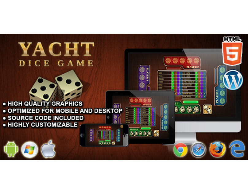 HTML5 Game: Yacht Dice Game