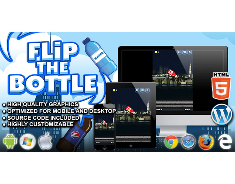 HTML5 Game: Flip the Bottle