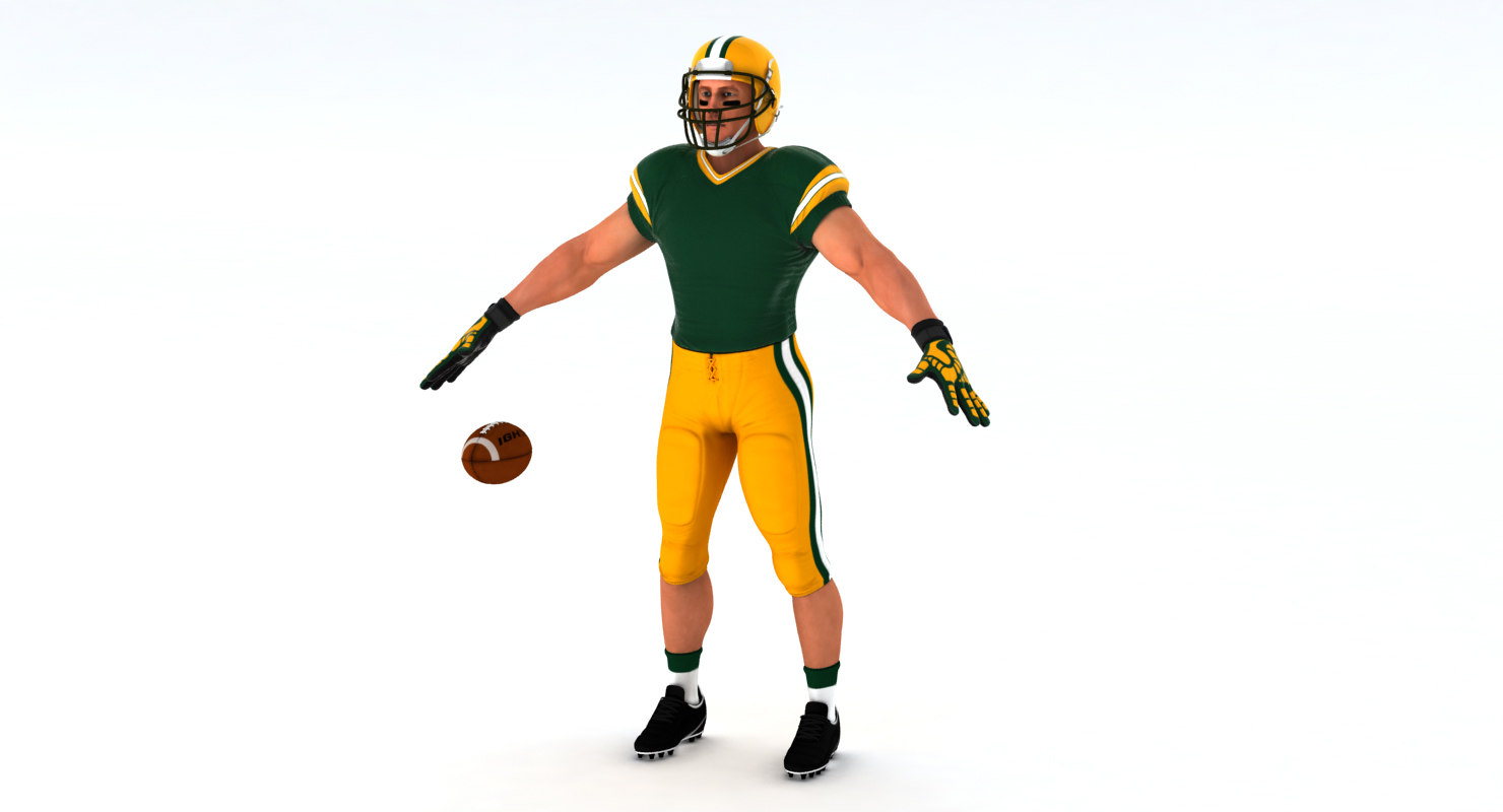 3D Model: White American Football Player HQ 004 - Code This Lab srl
