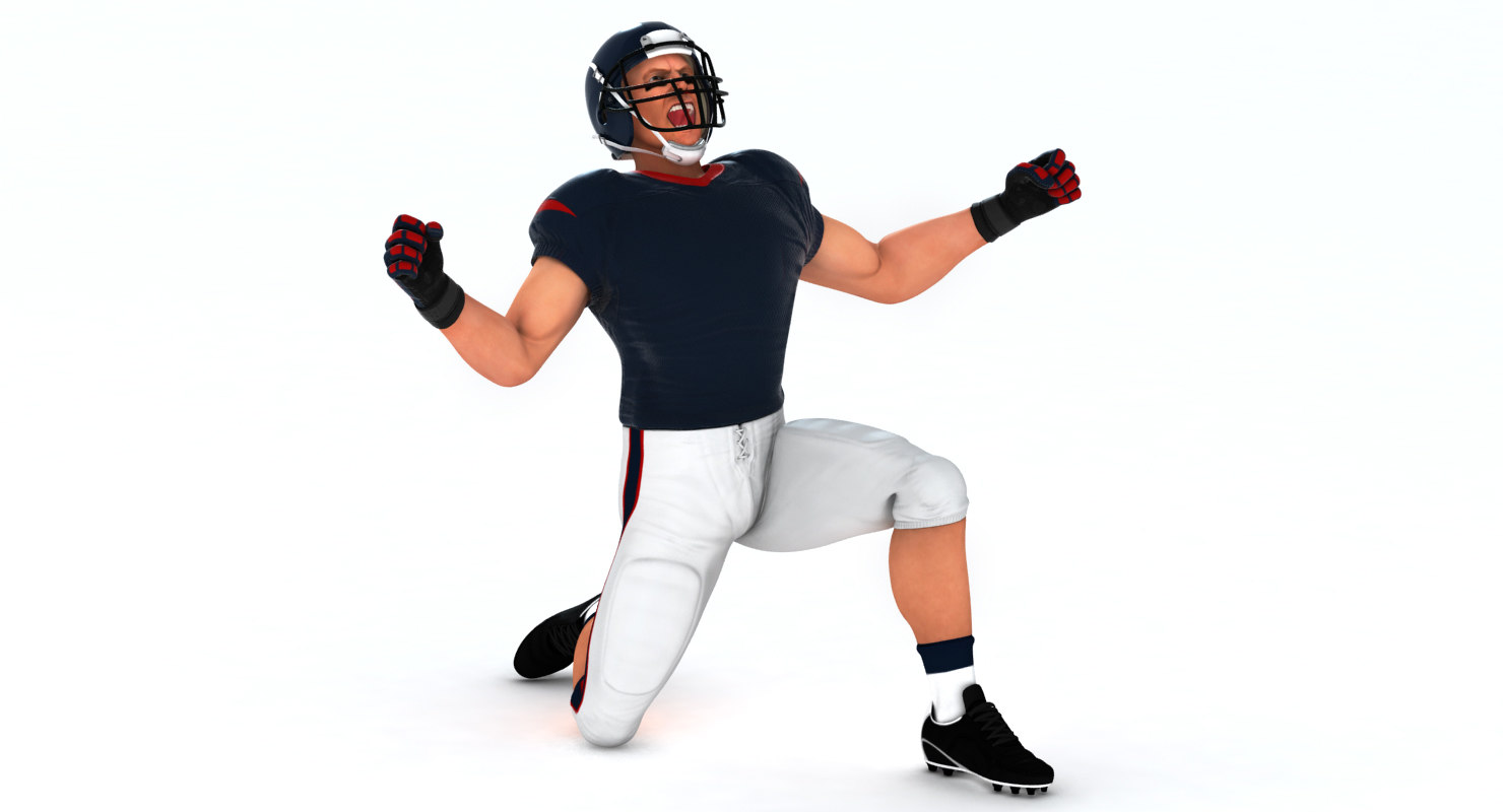 3D Model: White American Football Player HQ 005 - Code This