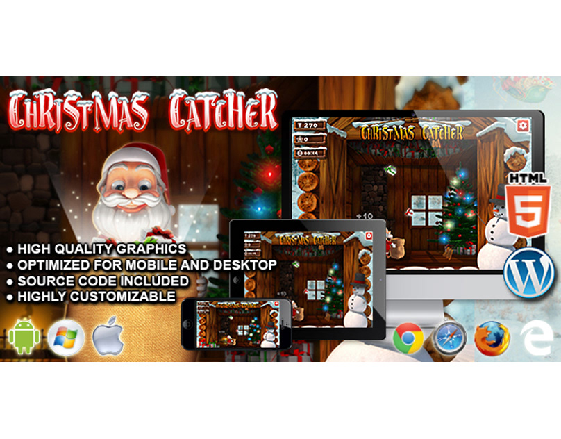 HTML5 Game: Christmas Catcher