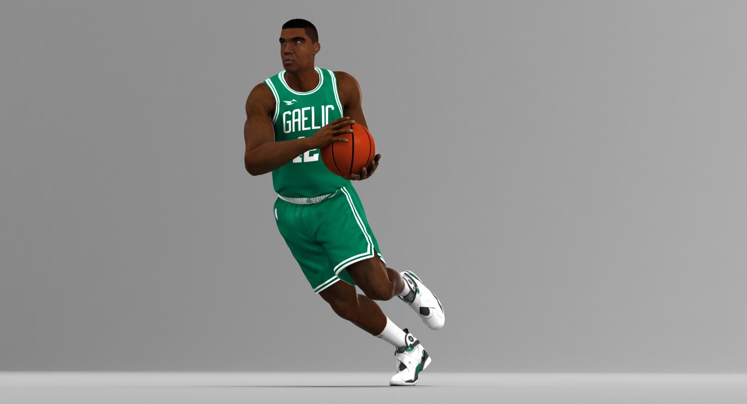 3D Model: Black Basketball Player HQ001 - Code This Lab srl