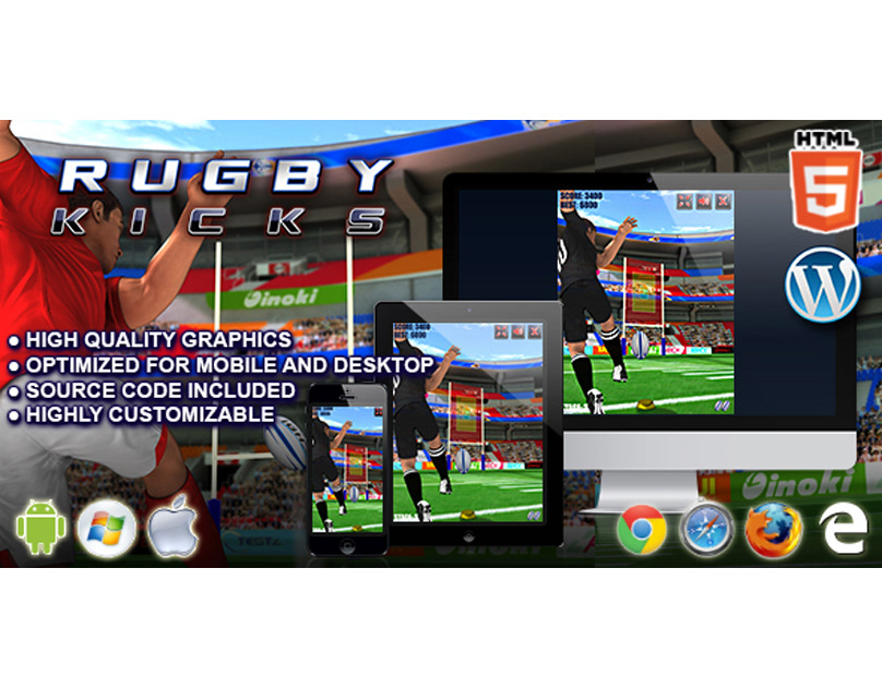 HTML5 Game: Rugby Kicks